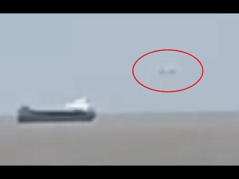 Witness filmed cigar shaped UFO over Bristol Channel