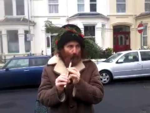 Hunt the wren music & dance in the street, in Douglas the Isle of Man, 26th Dec 2014