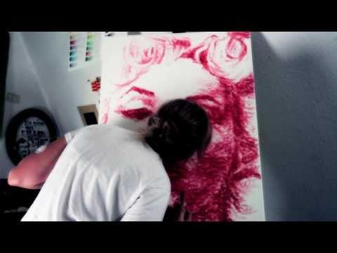 Natalie Irish - Painting With Her Lips