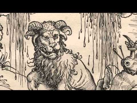 The Beast with Two Horns Like a Lamb from The Apocalypse, Albrecht Dürer, c. 1496--97