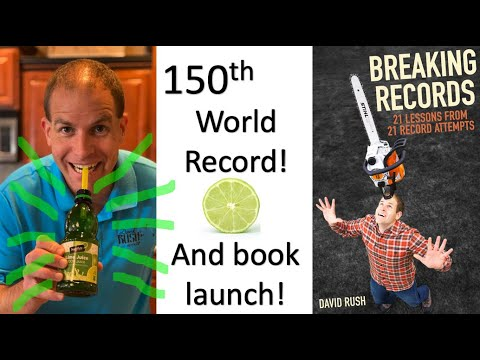 """1 Liter of Lime Juice - World Record - and """"Breaking Records"""" Book Launch!"""