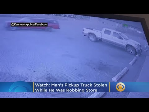 WATCH: Man's Pickup Truck Stolen While He Allegedly Robbed Store Across Street