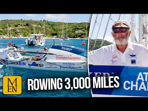 Oldham grandad breaks world record rowing solo across Atlantic Ocean