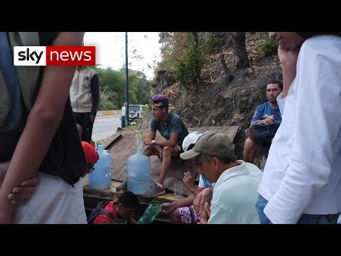 Polluted river and sewers become water sources in Caracas