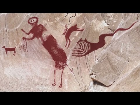 Are These Cave Paintings Ancient Aliens or Dinosaurs?