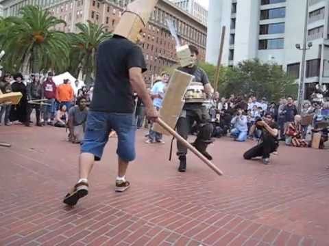 Cardboard Tube Fighting League San Francisco Montage