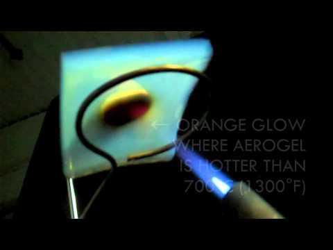 Aerogel Superinsulation Blowtorch Demo: Hershey's Kiss