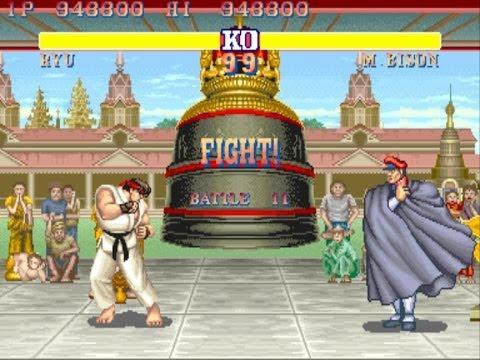 Street Fighter II: The World Warrior arcade Ryu Gameplay Playthrough Longplay