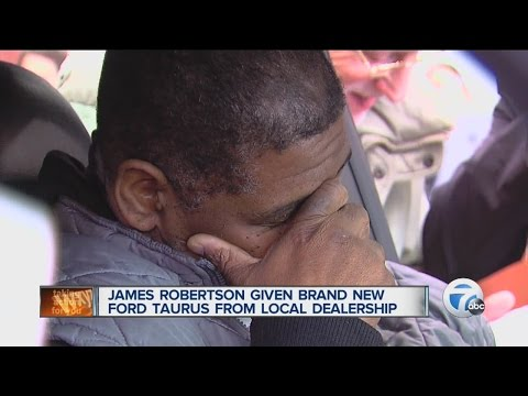 James Robertson, Detroit man with 21-mile walk to work gets car