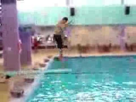 Fat Kid Face Plant On Diving Board