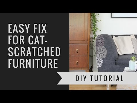How to repair cat-scratched furniture using doilies!   Heather's Space