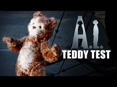 "A.I. ARTIFICIAL INTELLIGENCE - ""Teddy"" Animatronic Puppet Rehearsal - Behind-the-Scenes"