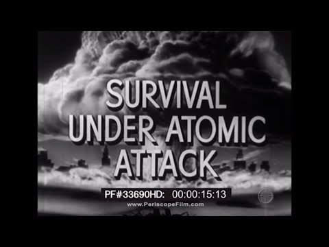 Survival Under Atomic Attack 1951 NUCLEAR BOMB SHELTER FILM 29180 HD
