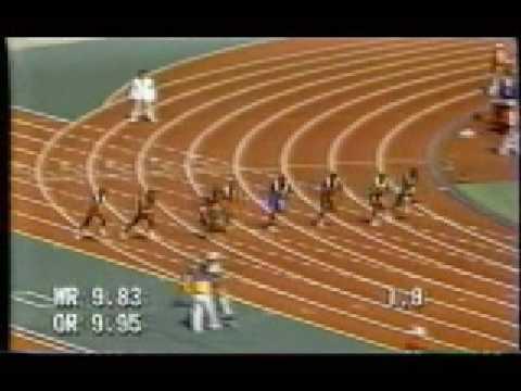 Ben Johnson, 100m Final, CBC Feed, 1988 Seoul, Korea