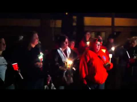 Candlelight memorial for Ace the pit bull from Detroit