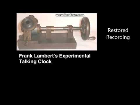 Frank Lambert's Experimental Talking Clock (1878) Before And After Restoration