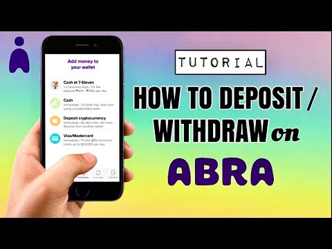 How to DEPOSIT or WITHDRAW on ABRA WALLET | Bitcoin and Cryptocurrency App Tutorial