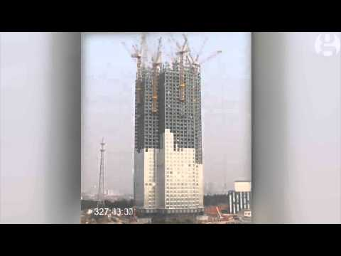 Chinese build 57-storey skyscraper in 19 days – timelapse