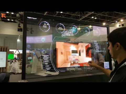 Transparent OLED - Sharjah Stand, Gitex 2016