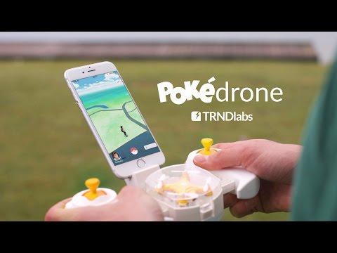 PokéDrone - Pokemon GO + mini Drone con GPS y cámara para atraparlos a todos!