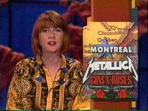 Metallica & Guns N' Roses - Montreal Riot TV News Report (1992)