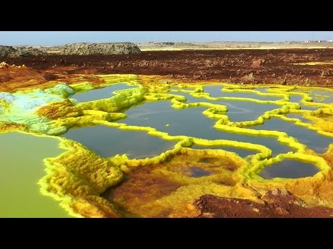 The Unearthly Scenery of Dallol, Danakil Depression, Ethiopia in HD