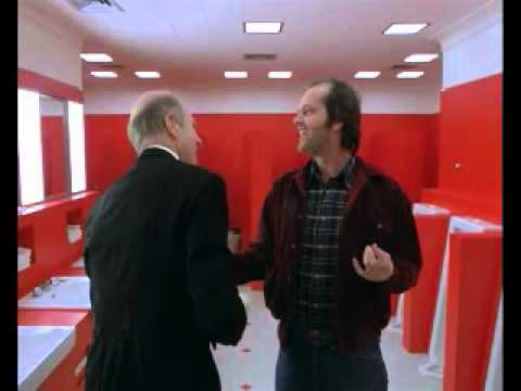 The Shining - Torrance and Delbert Grady in the Restroom