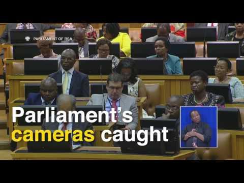 Watch President Jacob Zuma sleeping in Parliament..
