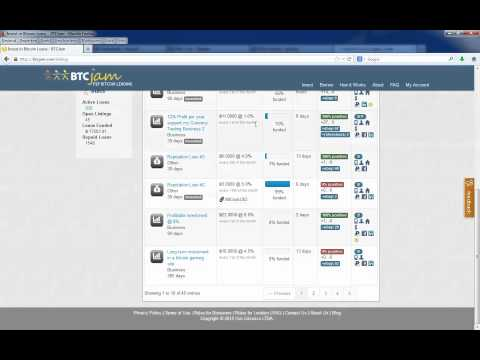 How To Request A Loan At BTCJam