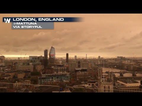 Hurricane Ophelia Creates Red Skies Over England