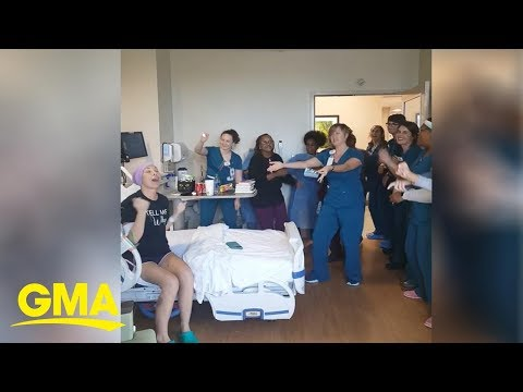 Nurses sing Backstreet Boys to cancer patient who missed concert due to diagnosis   GMA Digital