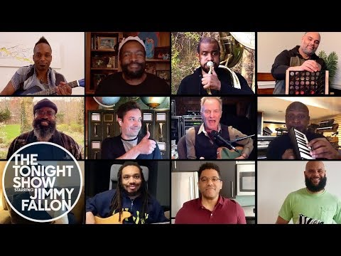 "Jimmy Fallon, Sting & The Roots Remix ""Don't Stand So Close to Me"" (At-Home Instruments)"