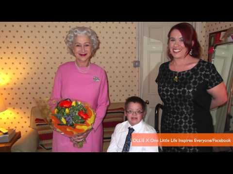 Helen Mirren Meets with Dying Boy in Queen Elizabeth's Place