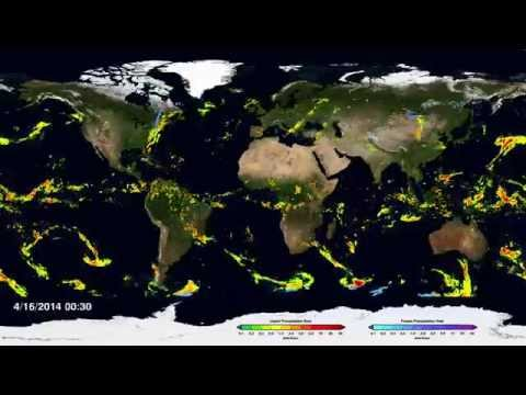 NASA   First Global Rainfall and Snowfall Map from New Mission