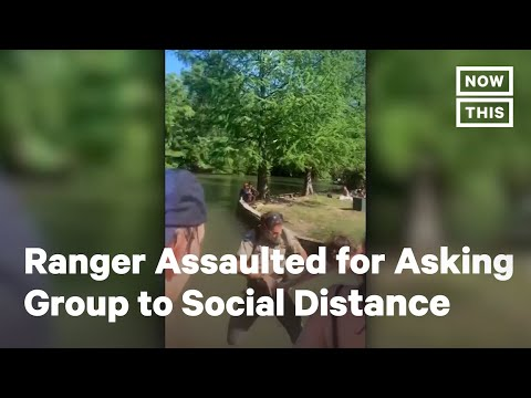 Park Ranger Shoved Into Lake After Asking Group to Social Distance | NowThis