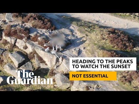 Police drone video shames people using national park during UK lockdown