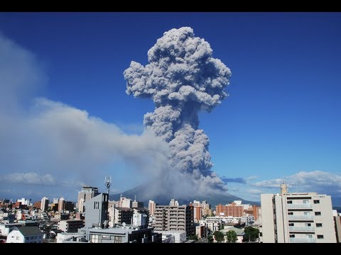 Japanese volcano: Mount Sakurajima eruption blankets Kagoshima city in ash