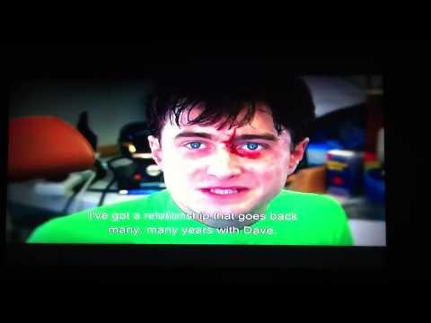 Daniel Radcliffe talks about his previous stunt double, David Holmes