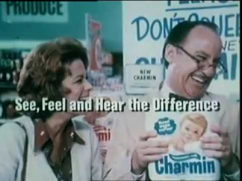 1970's Mr. Whipple Don't squeeze the Charmin Bath Tissue Toilet paper Commercial