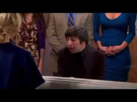 Howard's song to Bernadette (If I Didn't Have You) The Big Bang Theory