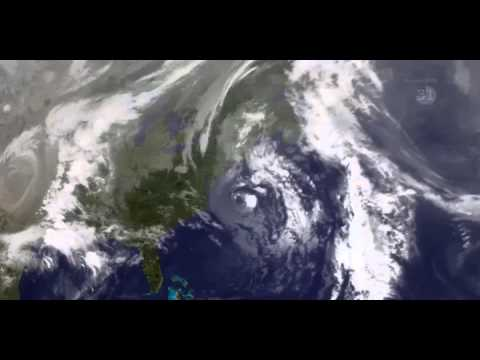 1991's Perfect Storm — From Space