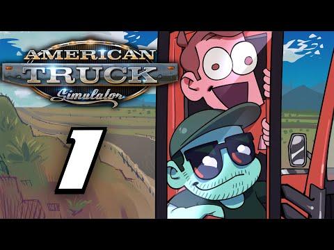 SuperMega Plays AMERICAN TRUCK SIMULATOR - EP 1: Stiff Loads