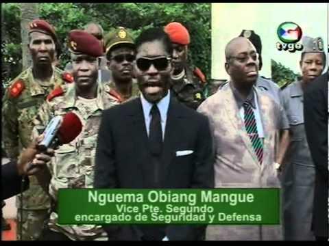 Le vice Président Nguema Obiang Mangue visite les camps milittaires de Malabo, Sipopo et Bioko