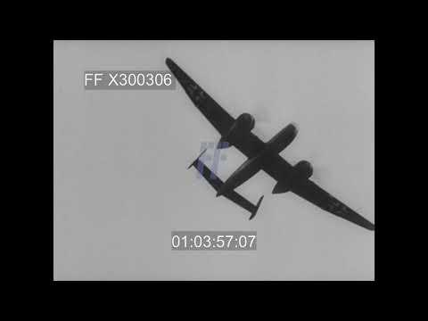 Heinkel He 219 Bomber, Taxiing, Taking Off & Landing - 300306X | Footage Farm Ltd
