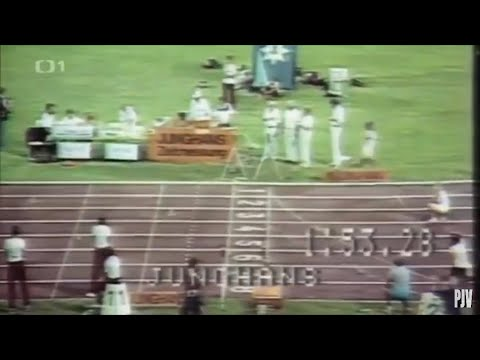 Jarmila Kratochvilova 800m world record 1:53.28 negative split (56.82 + 56.46)