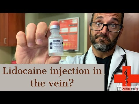 lidocaine injection is safe near a vein? answer to fan question