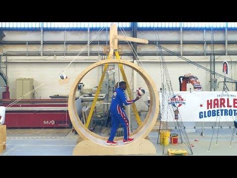 Rube Goldberg Trick Shot Machine   Harlem Globetrotters
