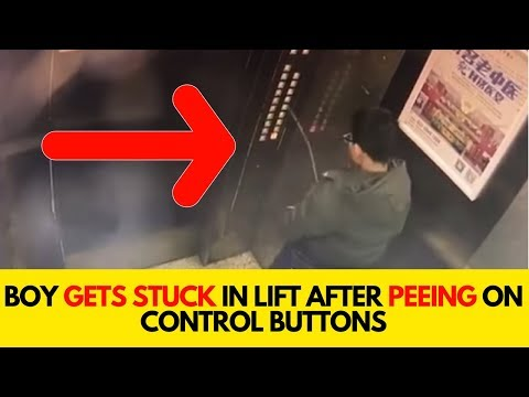 Boy Gets Stuck In Lift After Peeing On Control Buttons