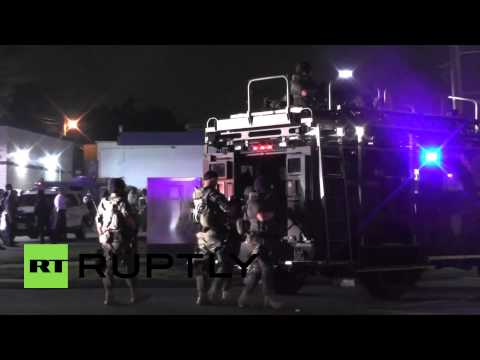 USA: Sound cannon blasts curfew defiant protesters in Ferguson