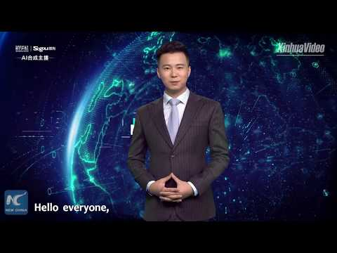 Xinhua's AI anchor broadcasts news in standing position